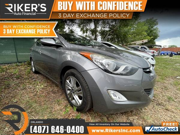 Photo $106mo - 2012 Hyundai Elantra GLS PZEV - 100 Approved - $106 (7202 E Colonial Dr, Orlando FL, 32807)