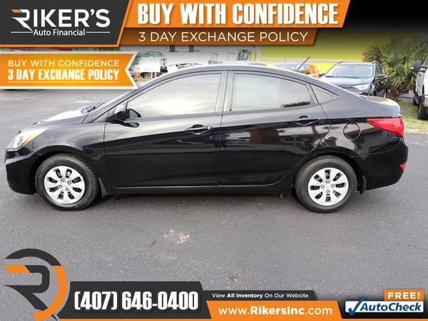 Photo $113mo - 2016 Hyundai Accent SE - 100 Approved - $113 (Rikers Auto Financial)