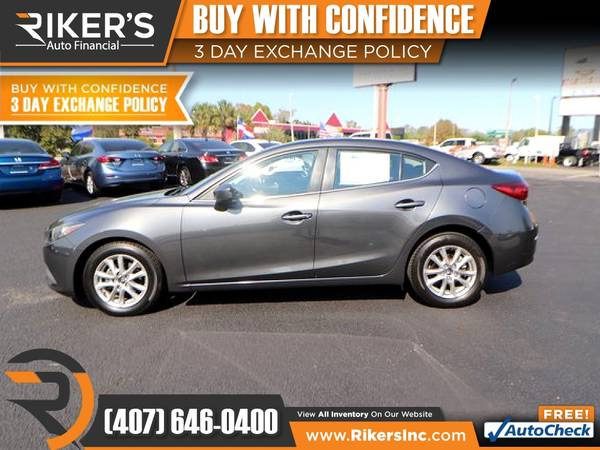 Photo $116mo - 2016 Mazda Mazda3 Mazda 3 Mazda-3 i Sport - 100 Approved - $116 (Rikers Auto Financial)