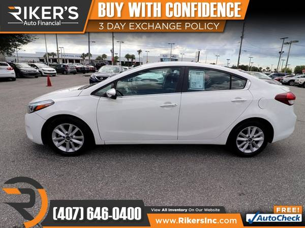Photo $138mo - 2017 KIA Forte S - 100 Approved - $138 (Rikers Auto Financial)