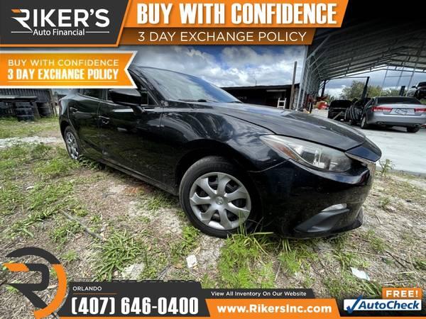 Photo $166mo - 2015 Mazda Mazda3 Mazda 3 Mazda-3 i SV - 100 Approved - $166 (7202 E Colonial Dr, Orlando FL, 32807)