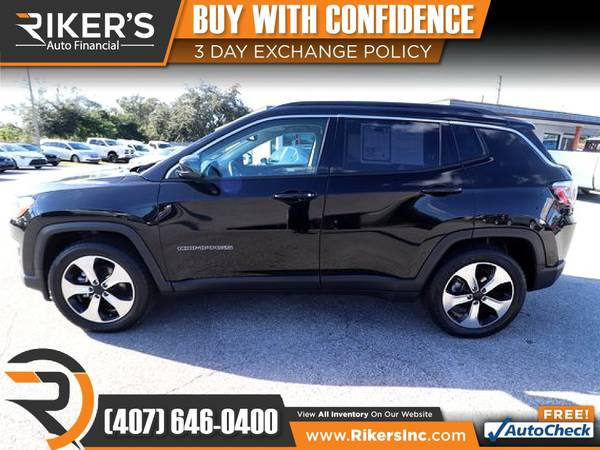 Photo $199mo - 2017 Jeep New Compass Latitude - 100 Approved - $199 (Rikers Auto Financial)