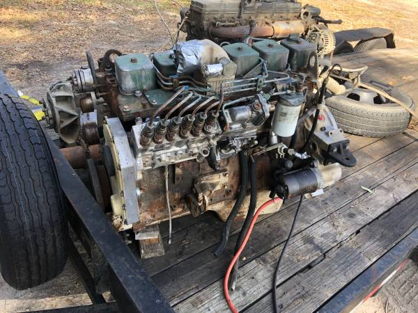 Photo 230hp cummins 12 valve p pump p7100 cummins turbo Diesel engine - $4,000 (High Springs)