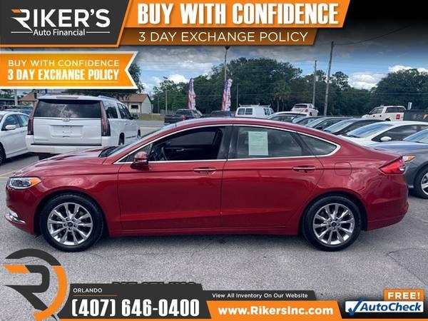 Photo $232mo - 2017 Ford Fusion SE - 100 Approved - $232 (7202 E Colonial Dr, Orlando FL, 32807)
