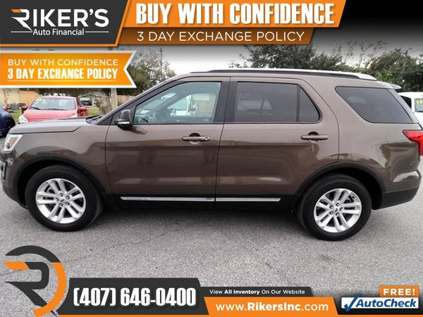 Photo $255mo - 2016 Ford Explorer XLT - 100 Approved - $255 (Rikers Auto Financial)