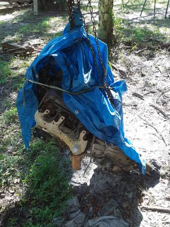 Photo 4.3 vortec motor with transmission - $750 (Chiefland)