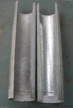 Photo 4 in. x 2 ft. 24-Gauge Round Metal Duct Pipe - Lot of 2 - $12 (Alachua)