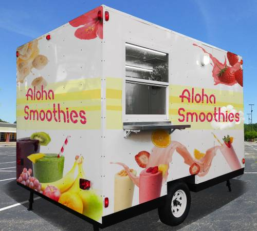 Photo Food Trailer Trailers  Food Truck Trucks  Concession  8x8 trailer - $6499 (Florida)
