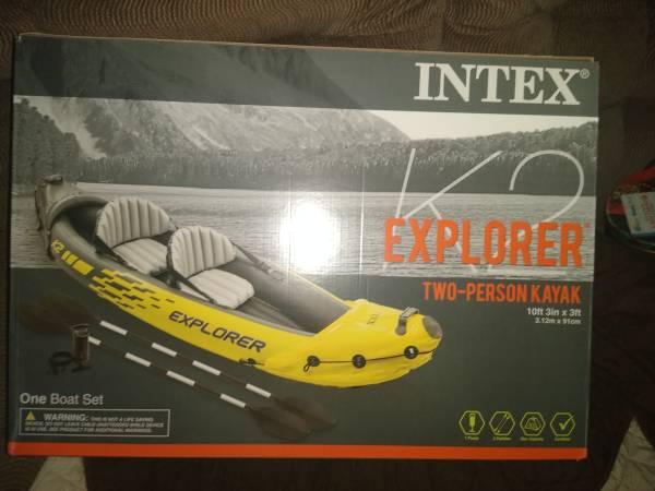 Photo Inflatable kayak - $50 (Trenton)