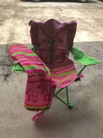 Photo Kids folding chairfreenever been used