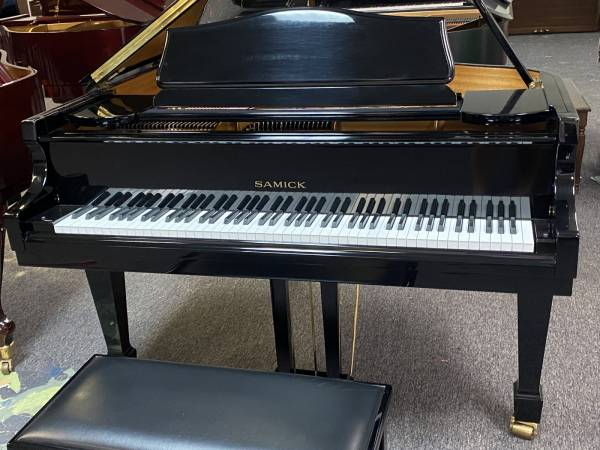 Photo SAMICK SIG-50 BABY GRAND PIANO - MINT AS-NEW FREE IN HOME DELIVERY - $4,250 (Atlanta  Free Delivery)