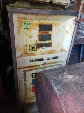 Photo Vintage Gas Pumps, 1 single 1 double - $300 (125 Halfmoon Trail, Melrose Florida)