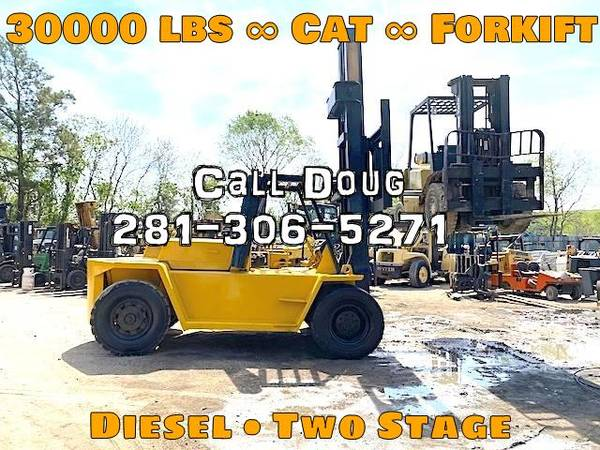 Photo 1990 Cat Forklift Two Stage Pneumatic Tire 4 Wheel Sit Down (Houston)