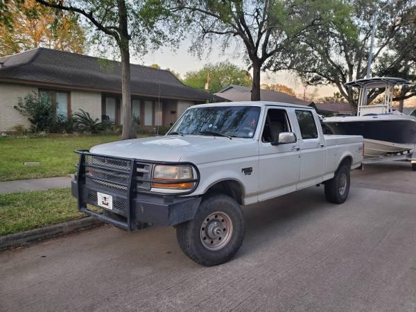 Photo 1997 7.3 Ford F250 4x4 Crew Cab Powerstroke - $11995 (Seabrook)