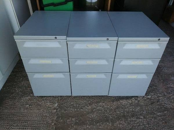 3-pc Filing Cabinet Set - $160 (La Marque)