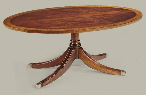 Photo Ethan Allen Burled Flame Mahogany Table - $550 (Katy)