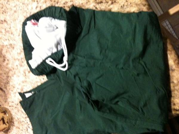 Photo LIKE NEW Nylon Athletic Pants Olive Green Medium - $4 (houston)