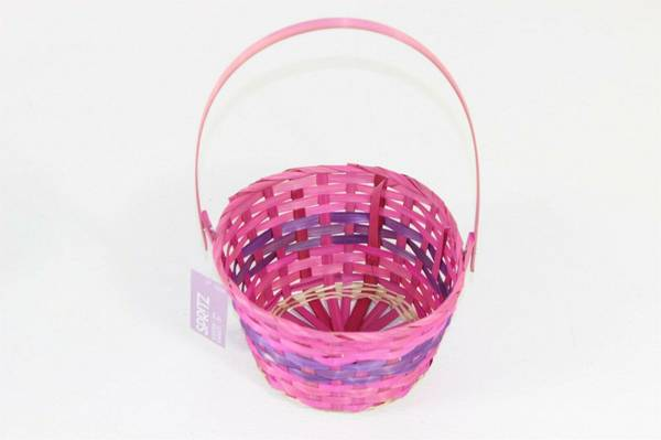 Photo One Dozen New 9quot Spritz Pink and Purple Easter Baskets with Tags, New - $12 (Houston)