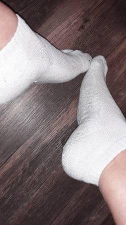 Photo Well-worn white socks - $15 (Texas City)