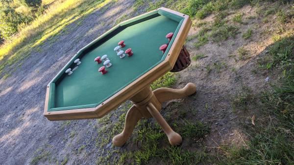 Photo Bumper Pool  Poker Table - $300 (Hadley)