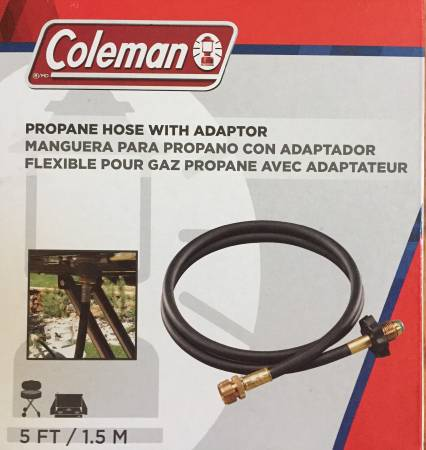 Photo High Pressure Propane Hose with Adaptor - Coleman 5 Feet - $15 (Ballston Spa)