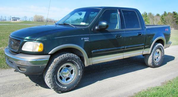 Photo Lifted 2002 Ford F150 Lariat SuperCrew FX4 With 35quot Tires - $2000 (S. Lake Chlain)