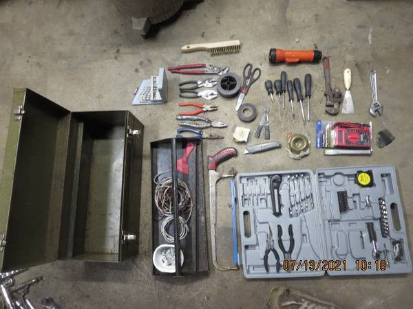 Photo Tool Box with Lots of tools - $18 (Fair Haven, Vermont)