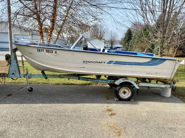 Photo Winter Boat Sale 16 ft Starcraft open runabout - $1,000 (Swanton)