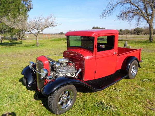 Photo 1933 Ford all-steel pickup street rod - $36500 (Valley Springs)
