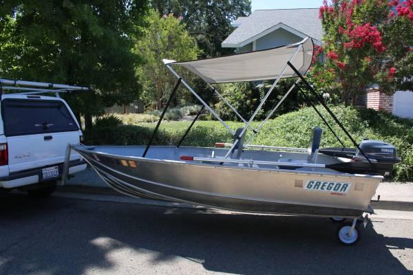 Photo 2010 Gregor boat, motor, loader - $3,500 (Lakeport)