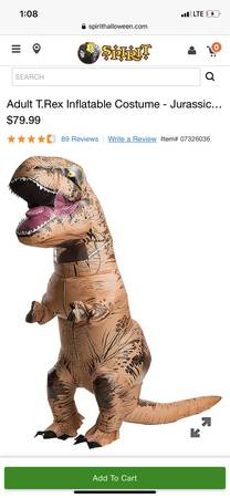 Photo Adult T.Rex Inflatable Costume - Jurassic World - $45