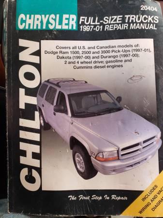 Photo Chrysler Full size truck manual 1997-2001 - $20 (Garden Valley)