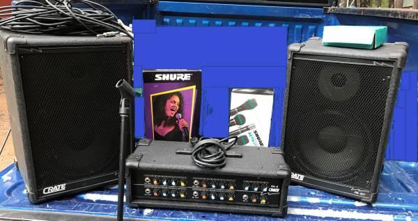 Photo Crate PA System PA-4 4-Channel Pro Amp 200 Watt - $235 (alta)
