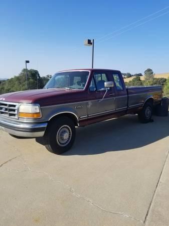 Photo F-250 XL 1993 Ford pickup long bed - $5,500 (Jackson, CA)