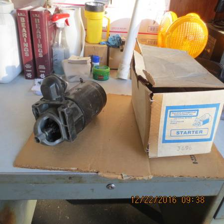 Photo G.M. Starters for the early 283 type engines - $35 (auburngv)