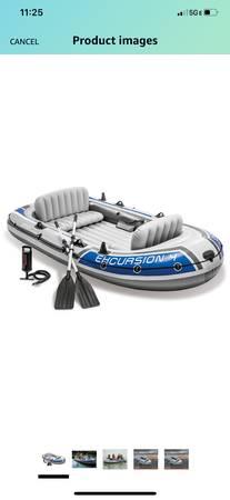 Photo Intex Excursion 5 person boat - $175 (Grass valley)