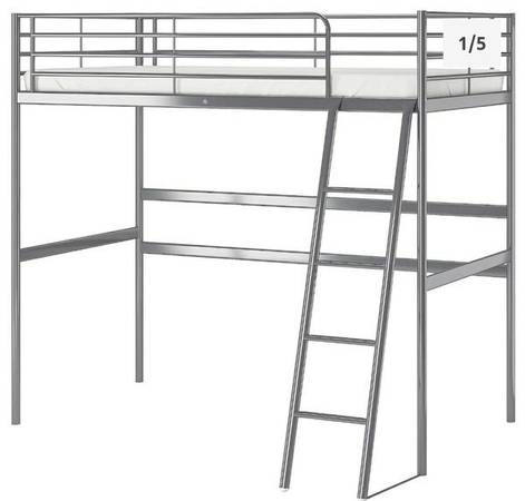 Loft Twin Bed (metal) - DELIVERYSETUP - $80 (ARNOLD)