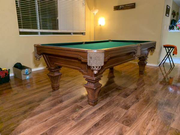Photo Pool Table 839 AMF Highland Series Deliveryinstall included - $2000