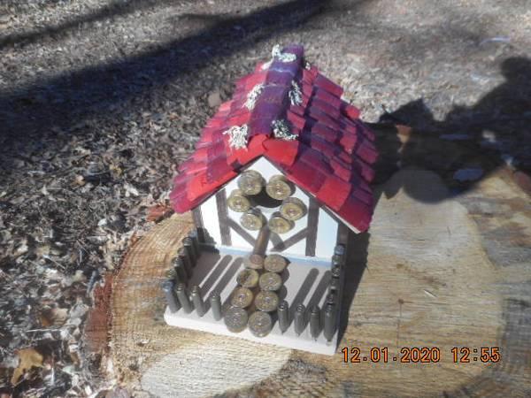 Photo Shotgun Bird House (red) - $50