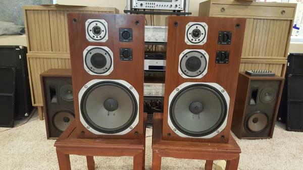 Photo YAMAHA NS-690 Speaker Pair - Tri-Amp - Audiophile - Beautiful  - $600 (Camino)