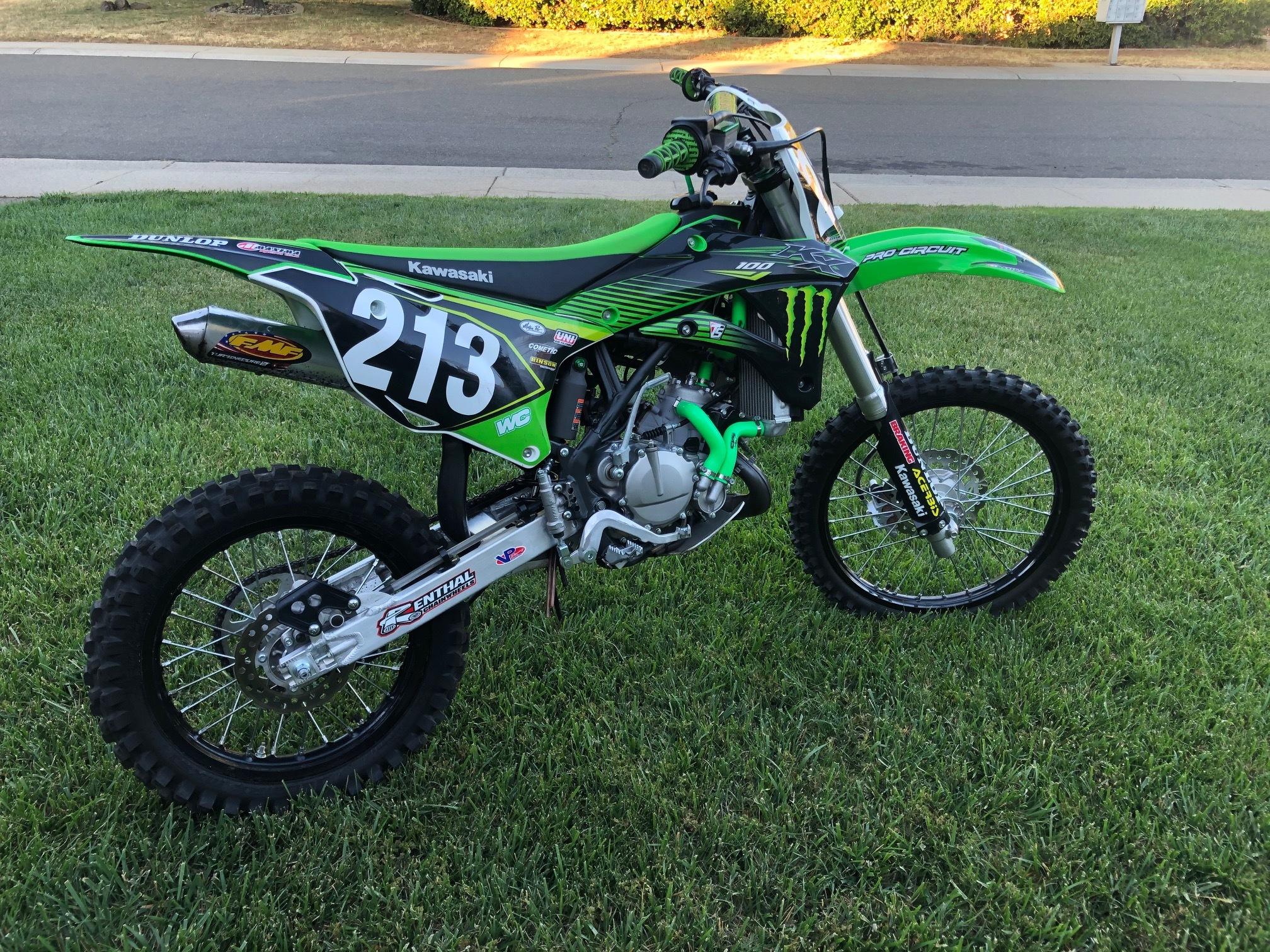 Photo Used 2018 Kawasaki Dirt Bike Motorcycle  $4500