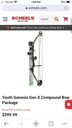 Photo Brand new youth bow - $200 (East Grand Forks)