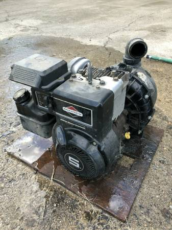 Photo Pump, 5hp Briggs and Stratton - $100