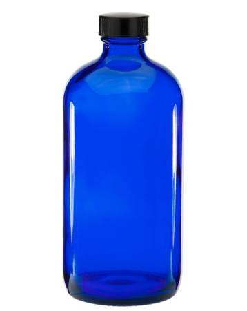 Photo 16oz glass Boston Round bottles cobalt blue with caps (per box of 60) - $50 (Walker  Standale)