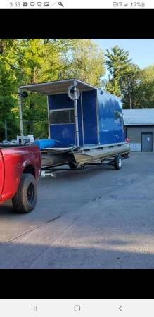 Photo Brand new houseboat tritoon with trailer - $18,000 (Middleville)