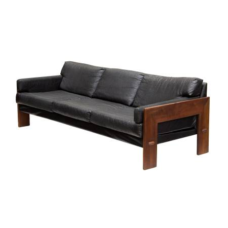Photo Chunky Solid Walnut Sofa by Adrian Pearsall for Craft Associates - $1599 (NW GR)