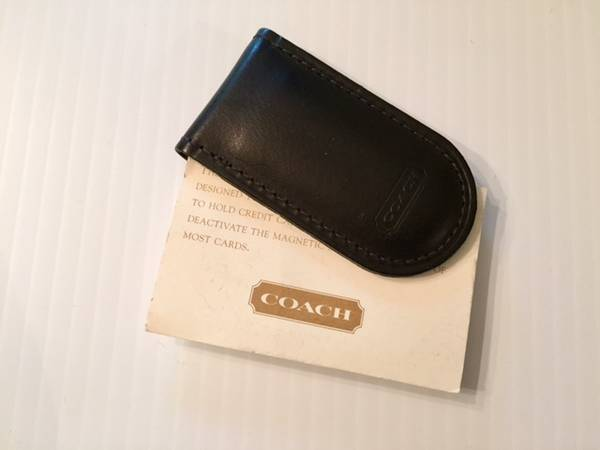 Photo Coach Leather Money Clip (Vintage Unused) - $25 (East Grand Rapids)