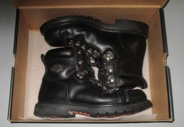 Photo Harley Davidson Leather Biker Boots - Mens Size 8.5 - $35 (Wyoming)