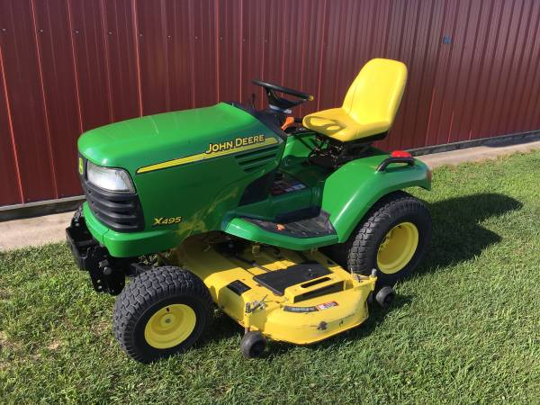 Photo John Deere X495 Garden Tractor 62quot Deck Power Steering 735 Hour Diesel - $5300 (Wayland)