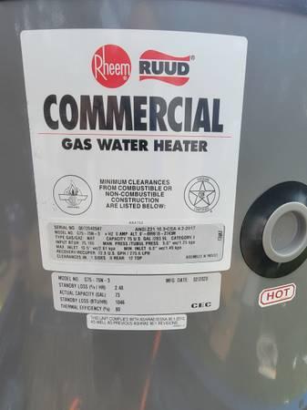 Photo New 75 gallon water heater - $900 (Plainwell)